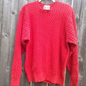 Cricket red 100% combed Colton   Sweater